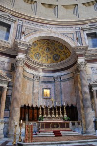 Italy Rome Pantheon Basilica of Saint Marias and Martyres
