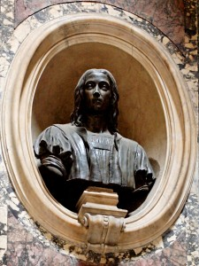 Bronze bust of Raphael in Pantheon