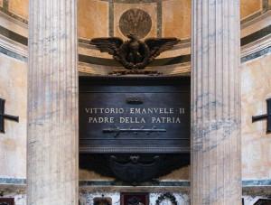 Tomb Vittorio EmanueleII buried at Pantheon, Rome